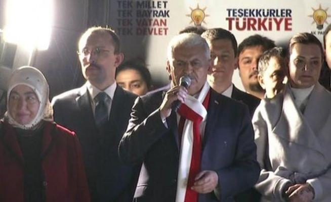 Referandum sonrası Başbakan Binali Yıldırım'ın Balkon Konuşması