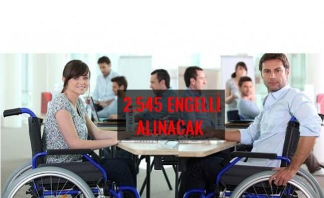 EKPSS İle Kamuya 2 bin 545 engelli memur alınacak