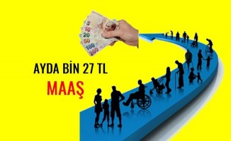 Engelli yakınına bin 27 TL maaş
