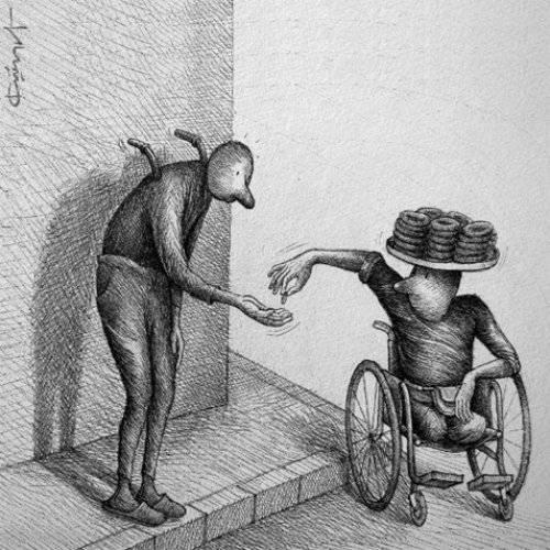 Engelliler potansiyel dilenci değildir!