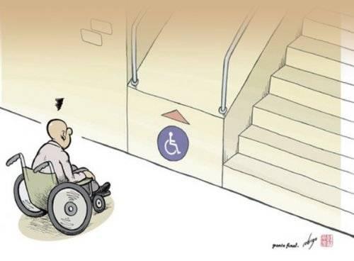 Mimarlık dehası engelli rampası